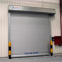 industrial security door /aluminum rapid rolling shutter door