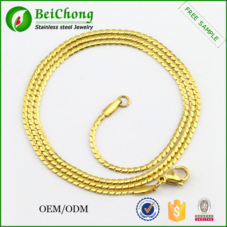 Latest Model For Men Fashion Stainless Steel Gold Chain Necklace ...