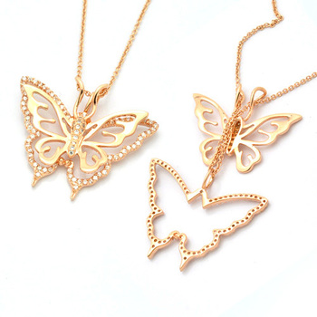 gold jewelry silver chain product lady wholesale pendant beautiful imitation necklace from plated hot