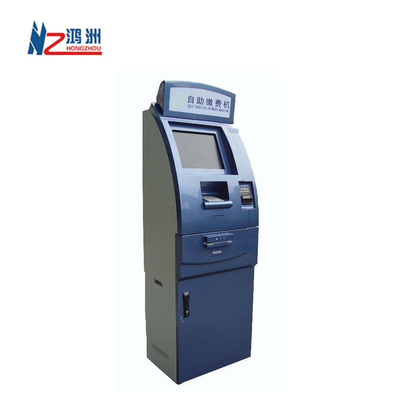 21 inch payment kiosk cash acceptor with check out