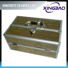 case Aluminum artistic colorful cosmetic case,deep wooden cosmetic case with inner box,VCI paper traveling cosmetic case