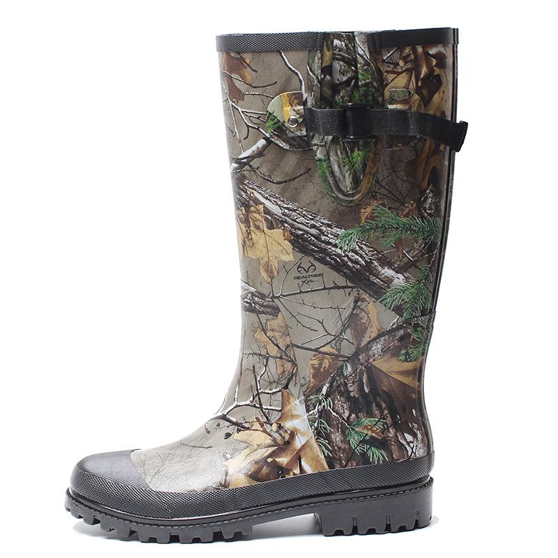 New Cheap Camo Rain Boots Mature Rain Boots