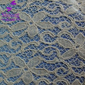 59 Inchs Wide Cotton Nylon Black Stretch Lace Fabric For Garment