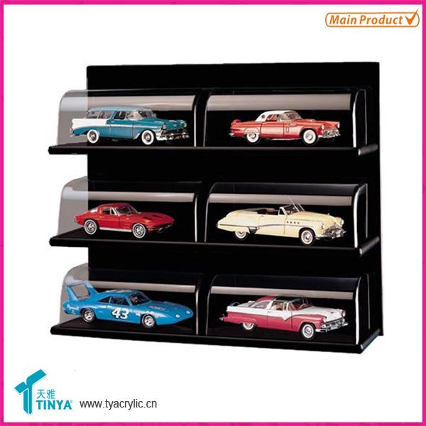 Custom Plastic Car Model Display Box Countertop Glass Toy Display