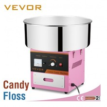 VEVOR Floss Maker Pink Best Price Electric Commercial Cotton Candy Machine w/CE EMC LVD RoHs