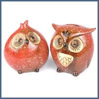 Best seller cute owl shape custom logo ceramic coin bank