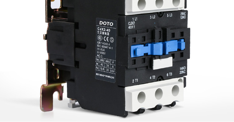 New Contactor 220V electrical magnetic Contactor Types of Ac Contactor original factory cjx2-d40 40a