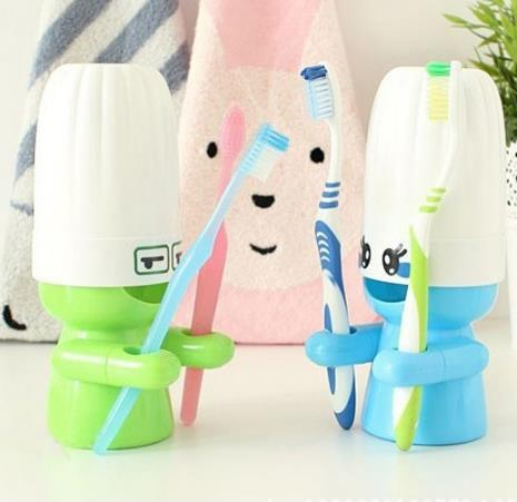 Cartoon Portable Travel Wash Set Bathroom Tooth Mug Toothbrush Holder