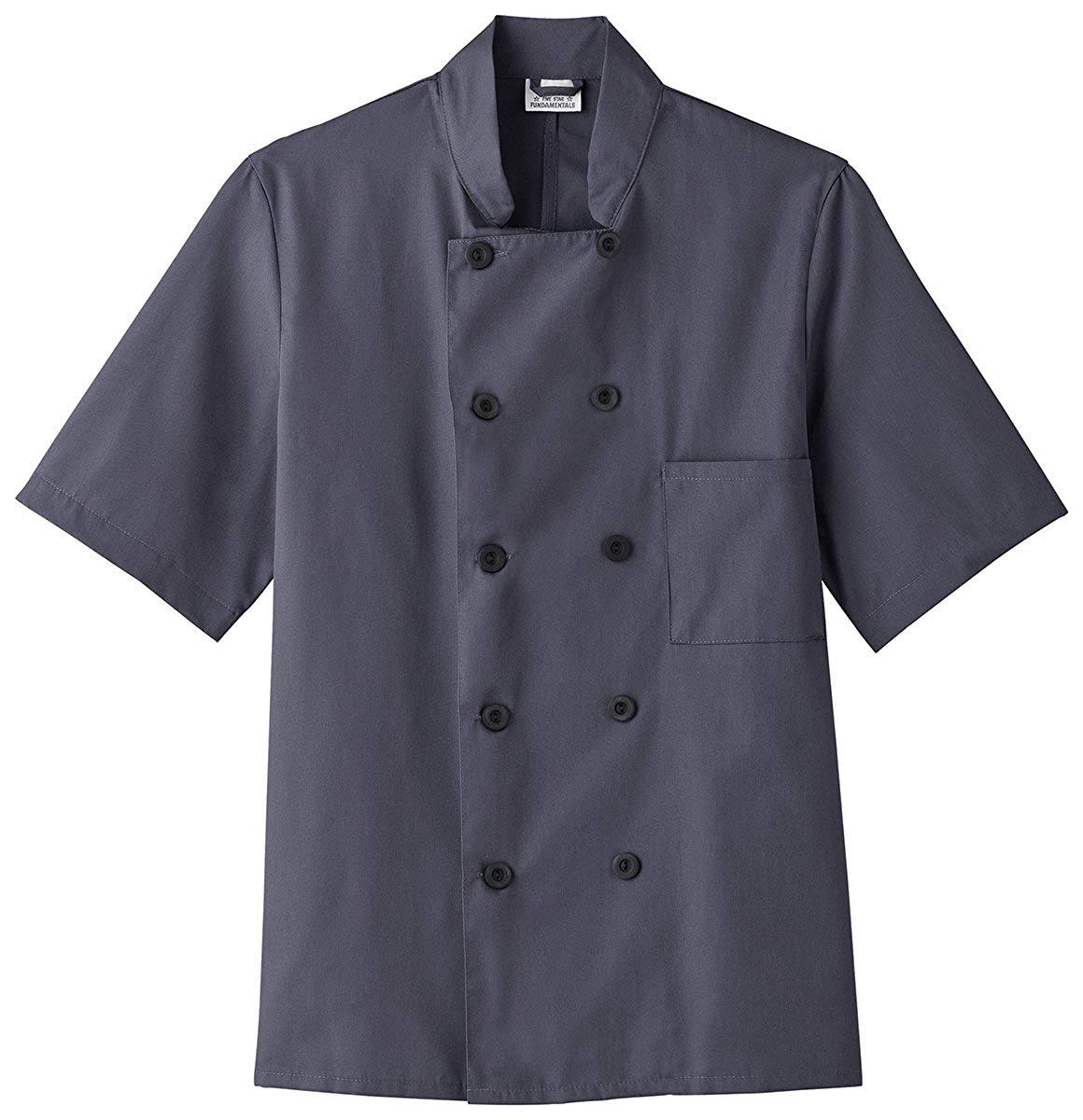 Five Star Chef Apparel Unisex Short Sleeve Chef Jacket