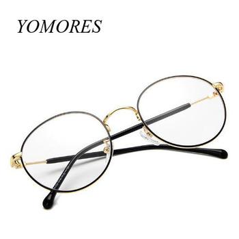 da00a03459a YOMORES Retro Round Optical Frame Copper Eyeglass Stock Eyewear Frame