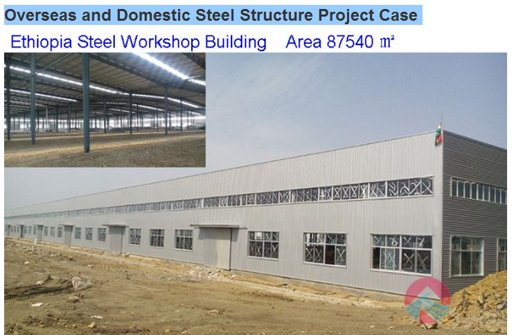 Steel Structural Steel Frame Sandwich Workshop Building