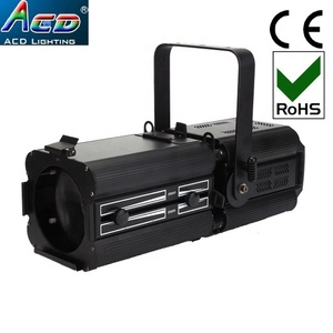 High bright 200w rgb led ellipsoidal full color cri>90 CE & Rohs 10-60degree zoom led logo gobo projector light
