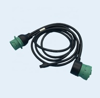J1939 Male To Female Heavy Duty Truck Diagnostic Cable With Customizable Connector