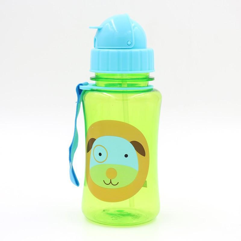 Дети комикс животное зоопарк питьевой солома чаша Mamadeiras младенцы фляжка для воды герметичность спорт бутылки нет - токсичных BPA