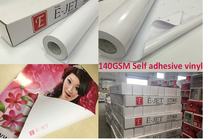 Guangzhou E-JET Self Adhesive Heat Resistant printable inkjet Vinyl Sticker For Car Wrap
