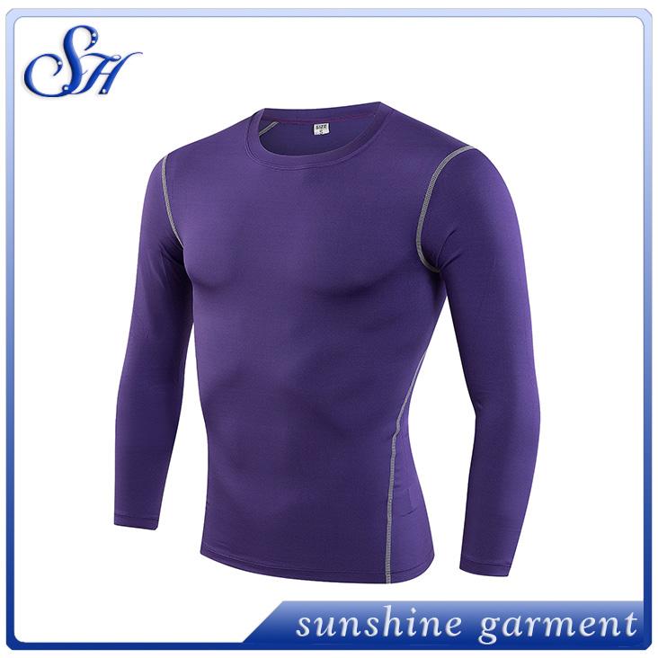 a48f0059c0 Homens de manga longa de basquete correndo esportes da aptidão t shirt homens  térmicas muscular musculação