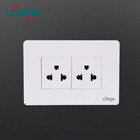 Cheap electrical 16A duplex US multiple plug wall power socket outlet