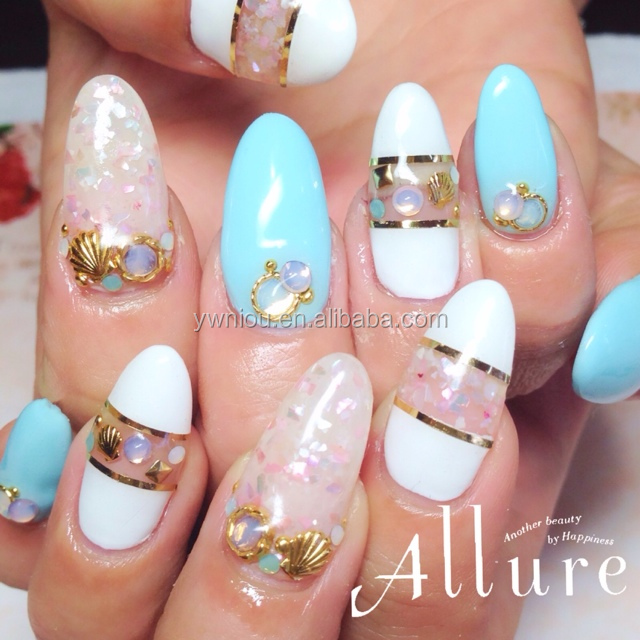 Crushed Shell Nail Art Choice Image And Design Ideas