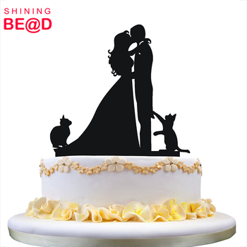 Hot Sale Cheap Wedding Cake Topper With Two Cats Pet Silhouette Acrylic Cake Topper Buy Chinese Wedding Cake Topper Cartoon Wedding Cake