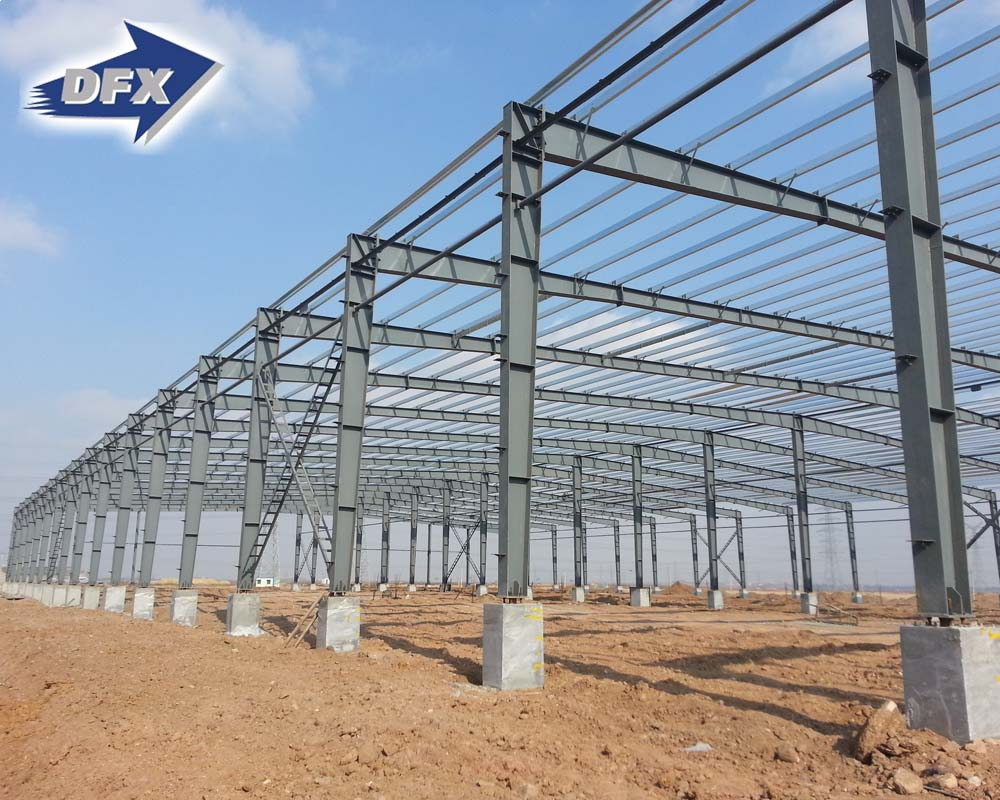 Easy Build Light Steel Fabrication Industrial Shed Prefab Warehouse