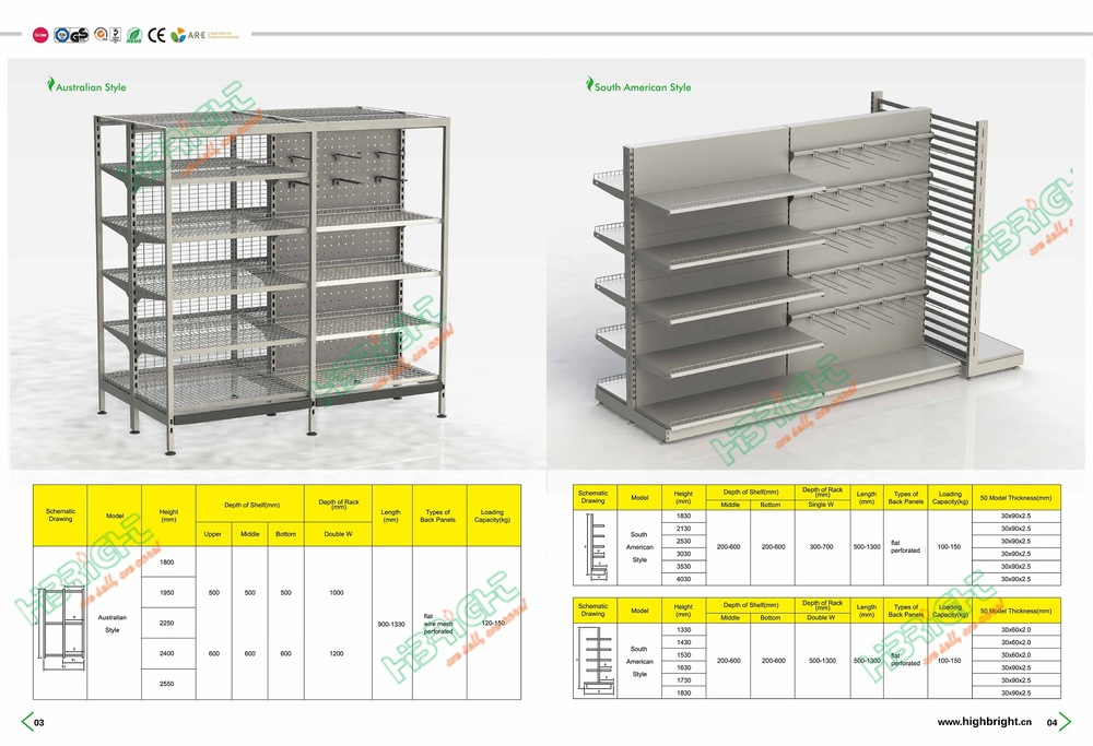 South American Style Metal Grocery Store Shelf - Buy Grocery Store  Shelf,Shelving,Gondola Shelf Product on Alibaba com