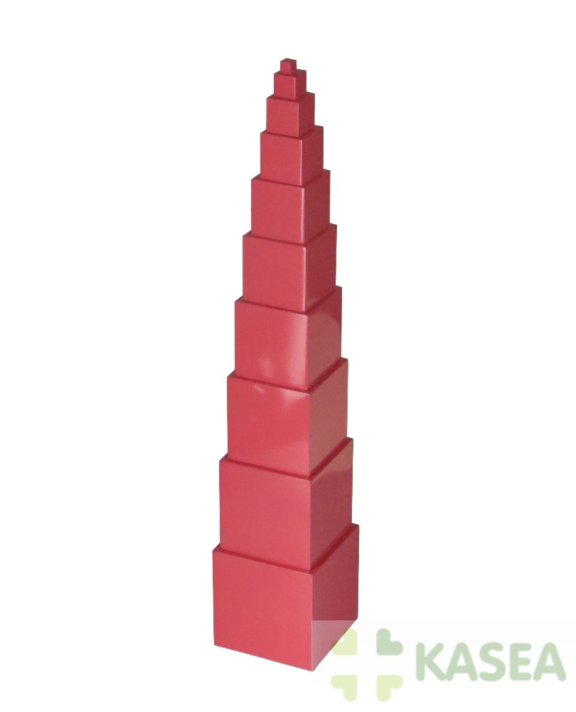 Montessori Premium wooden kids educational toys for Pink Tower beechwood