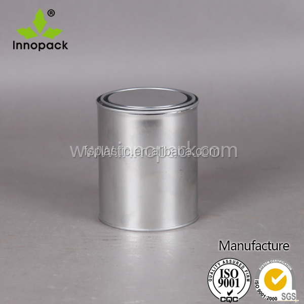 Small Square /round empty Tin can Metal paint containers 1 liter metal Tins