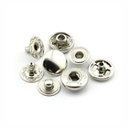Metal Snap Fasteners Rounded Sewing Rivet silver button