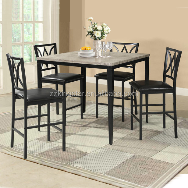 Faux marble top dinette sets restaurant bistro dining table 4 chairs sets  manufacturer, View dinette sets, Kingstar Product Details from Zhangzhou ...