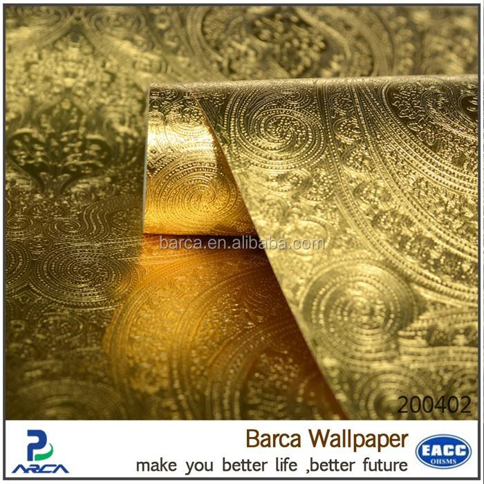 shinning pvc papel pintado papel pintado de oro para el diseo de interiores