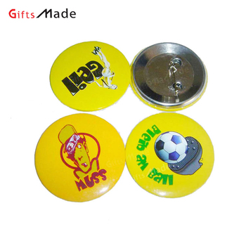 custom round plastic pin badge