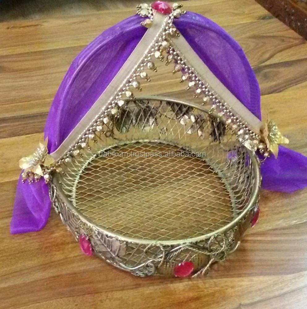 designer wedding basketdecorative basket for wedding buy wedding favor basketindian wedding basketdecorative baskets for wedding product on alibaba - Decorative Baskets