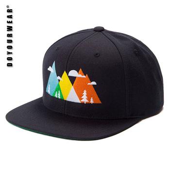 55d4e9ad602 Custom Yupoong Black Snapback Caps Hats For Men women kids ...
