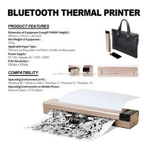 Newest Portable Bluetooth Thermal Tattoo Printer Transfer Machine