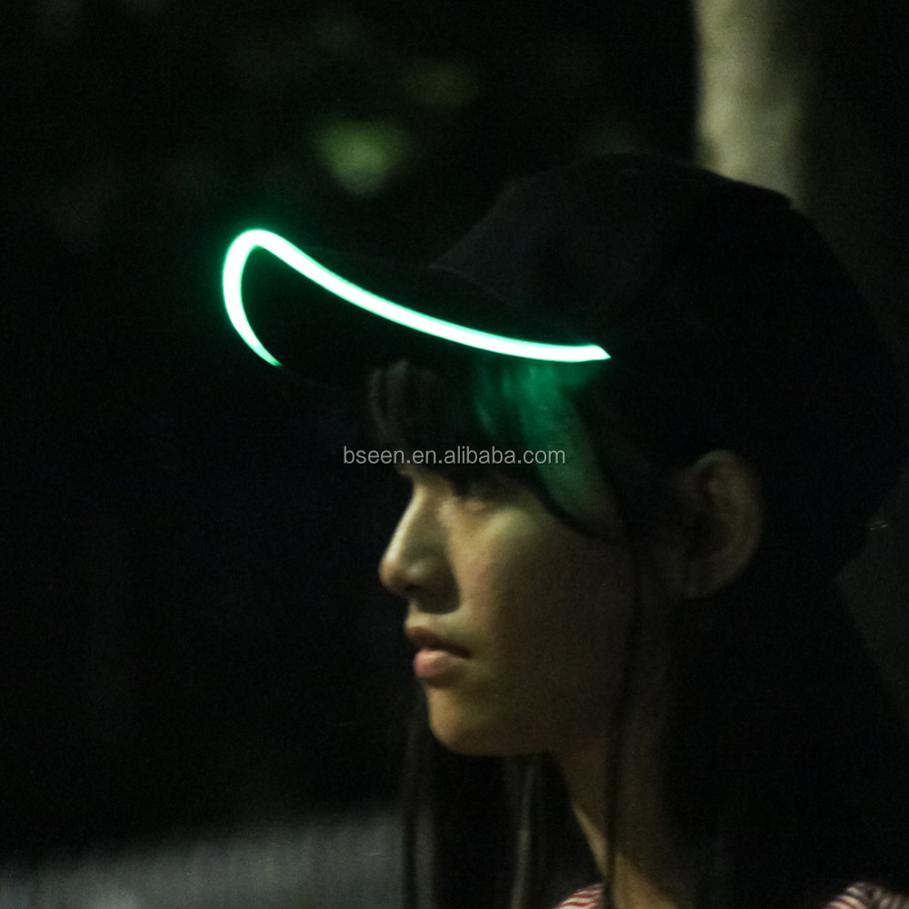 2016 new popular glow in the dark led hat led baseball caps and hats