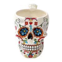 Burton & Burton Large Skeleton Ceramic Skull 15oz Coffee Mug