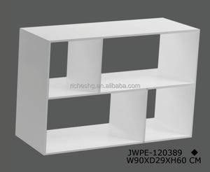 customized design multiple OEM MDF particle board wooden storage cube