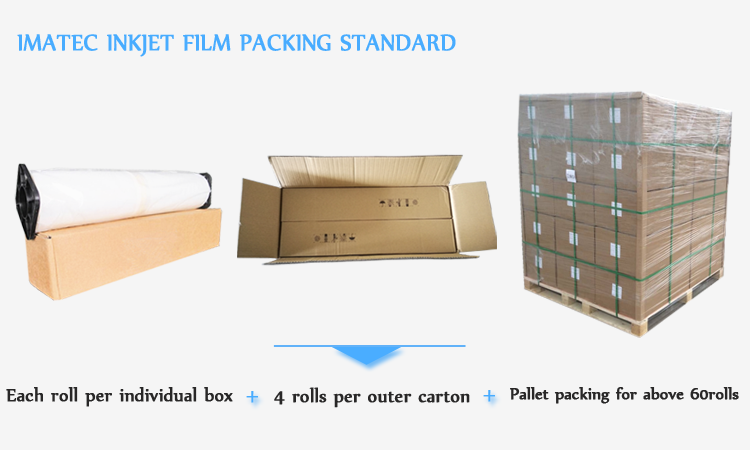 100 micron Milky White Waterproof Inkjet Transparency Film 36 Inch