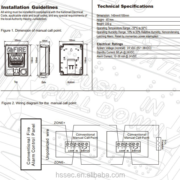 Photo-electric Manual Call Point For Fire Alarm Products - Buy ... on smoke detector block diagram, smoke detector circuit diagram, how work smoke detectors diagram,