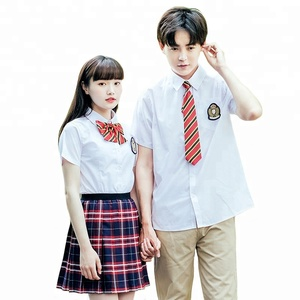 cotton shirt + plaid girls skirt japanese high school uniforms design with pictures