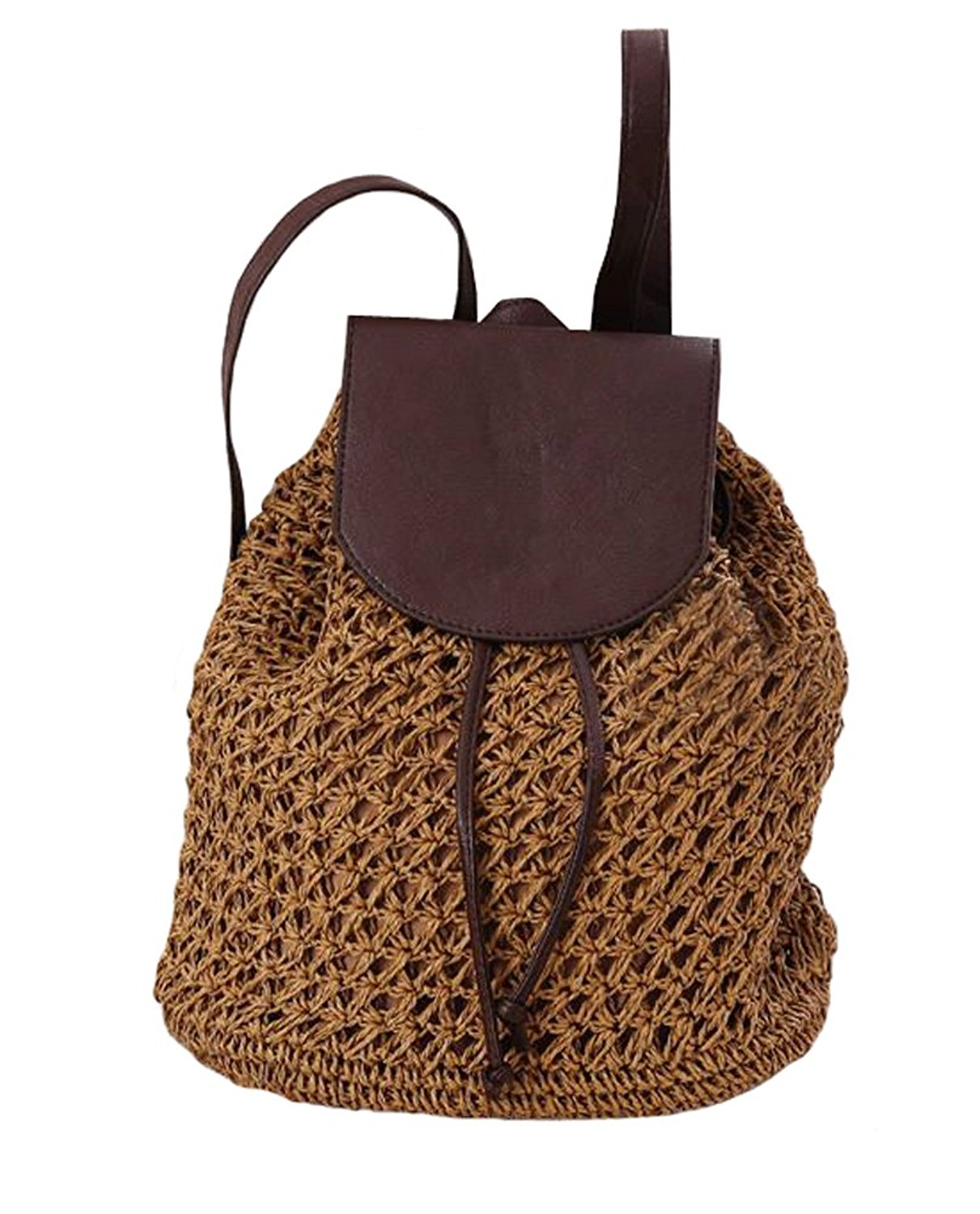 fbd331261fe7 Buy Tonwhar Paper String Crochet Straw Woven Bag Shoulder Tote Beach ...