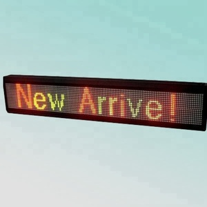 CE RoHS P7.62mm 16X128pixel red green scrolling moving message red green two colors indoor led word signs for window