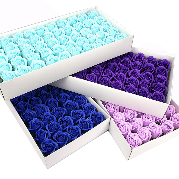 Factory price 50pcs/box soap rose artificial decorative flower rose head