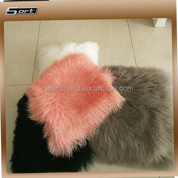 2017 Factory New Pink Tibetan Lamb fur Fabric