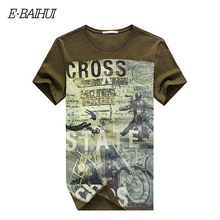 E-BAIHUI brand Summer Men Cotton Clothing Dsq T-shirtS casual T-Shirt Fitness tops Tees Skateboard Moleton men's t-shirts Y032