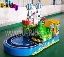 Coin operated Electric green train car games for kids
