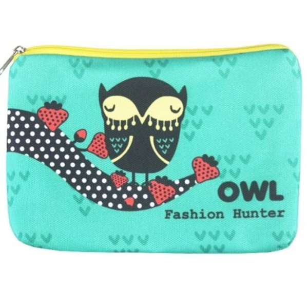 Newest style full print canvas travel cosmetic pouch bag