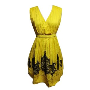 Winter Deal Best Quality Professional Yellow Lady Dress