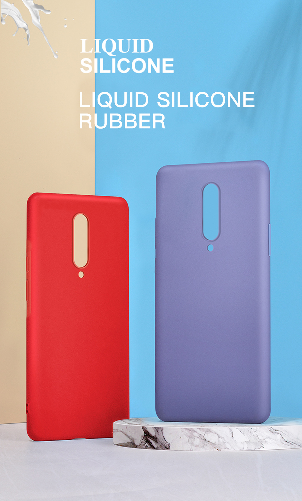 Original Liquid Silicone Soft Skin Case For Oneplus 6T Luxury Cover For One Plus 7 Pro