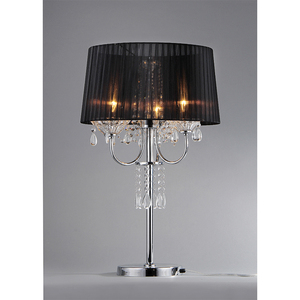 wholesale hotel project fabric shade american crystal chandelier table lamp
